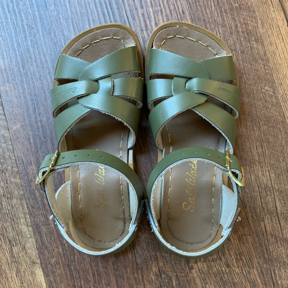 Saltwater Sandals Leather Olive Green